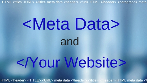 meta data and your website